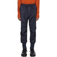 Y 3 Navy Canvas Cargo Pants
