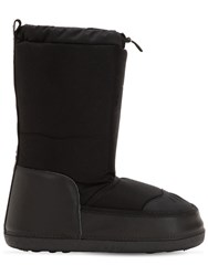 Dsquared Logo Nylon And Velour Snow Boots Black
