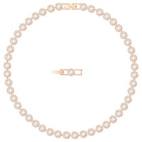 Swarovski Angelic Round Crystal Collar Necklace Rose Gold Clear