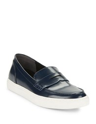 Kenneth Cole Kacey Leather Loafers Navy