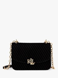 Ralph Lauren Elmswood Madison 22 Velvet Cross Body Bag Black