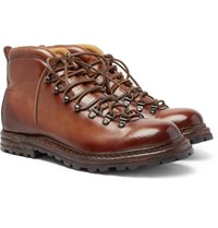 Officine Creative Burnished Leather Boots Brown