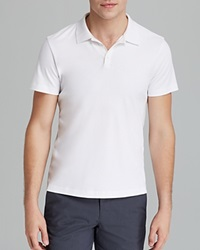 Theory Boyd Census Solid Pique Polo Slim Fit White