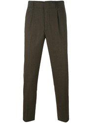 Dondup Tailored Tapered Trousers Green