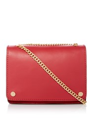 Maison De Nimes Leather Chain Crossbody Bag Red