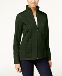 Styleandco. Style Co. Quilted Fleece Jacket Only At Macy's Dark Ivy