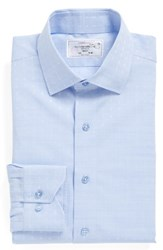 Lorenzo Uomo Men's Big And Tall Trim Fit Floral Dress Shirt Light Blue