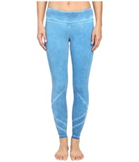 Pink Lotus Exotic Forest Empower Oil Wash Performance Leggings W Calf Cut Out Sky Blue Women's Casual Pants