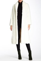 Donna Salyers' Fabulous Furs Shawl Collar Faux White Mink Coat