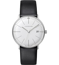 Junghans 047 4251.00 Max Bill Stainless Steel And Leather Quartz Watch Silver