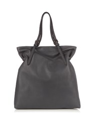Tomas Maier Leather Tote Bag Grey