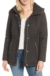 Andrew Marc New York Honeycomb Quilted Jacket Black