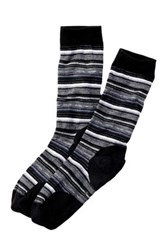 Smartwool Margarita Striped Crew Socks Black