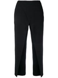 Federica Tosi Cropped High Waisted Trousers Black