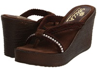 Sbicca Jewel Brown Women's Wedge Shoes