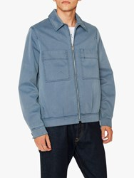 Paul Smith Ps Showerproof Denim Jacket Mid Wash Blue