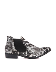Truffle Collection Truffle Faux Snake Pointed Chelsea Boots