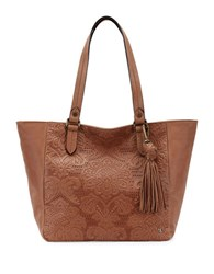 Elliott Lucca Esma Large Leather Tote Brown