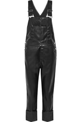 Givenchy Faux Leather Overalls Black