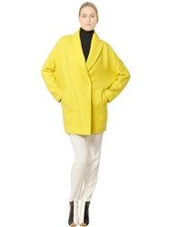 Vionnet Wool Cloth Coat Yellow