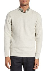 Cutter And Buck Men's 'Benson' Crewneck Sweater Limestone Heather
