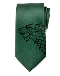 Cufflinks Inc. Game Of Thrones Stark Large Sigil Silk Tie Green