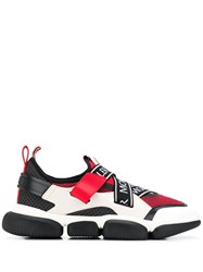 Moncler Logo Trimmed Chunky Sneakers White