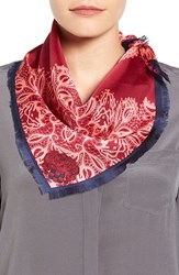 Vince Camuto Women's Lace Crossing Silk Scarf Pink Glow