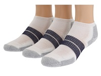 Thorlos 84N Micro Mini 3 Pair Pack White Navy Men's No Show Socks Shoes