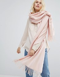 Monki Tassel Trim Scarf Light Pink