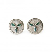 Isabel Englebert Oliver Emerald Cufflinks