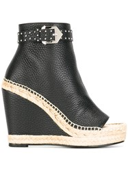 Givenchy Studded Buckle Platform Boots Black