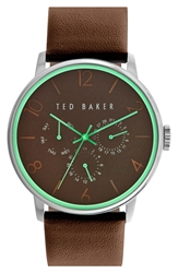 Ted Baker Multifunction Watch 42Mm Brown Green