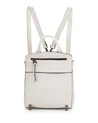Neiman Marcus Kari Crocodile Embossed Backpack Bone Ivory