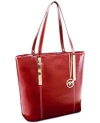 Mcklein Cristina Leather Tote Red