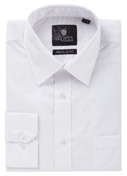 Skopes Easy Care Regular Fit Long Sleeve Shirt White