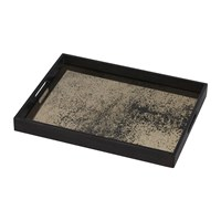 Notre Monde Heavy Aged Bronze Mirror Tray Rectangular Small