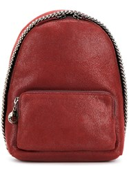 Stella Mccartney Mini Falabella Backpack Polyester Red