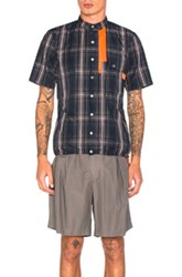 Kolor Beacon Tartan Shirt In Blue Checkered And Plaid Blue Checkered And Plaid