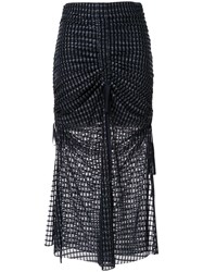 Alice Mccall Striped Ruched Skirt 60