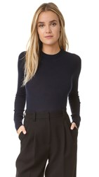 Dkny Merino Wool Sweater Bodysuit Classic Navy
