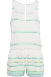 Soft Joie Miri Cotton Jacquard Playsuit White