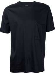 Christophe Lemaire Lemaire Buttoned Up T Shirt Black