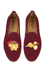 Del Toro M'o Exclusive Potato Chips Slipper Burgundy