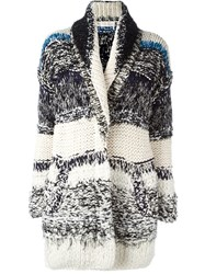 Chloe Striped Chunky Knit Cardigan