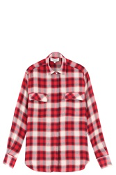 Paul And Joe Tartan Shirt Red