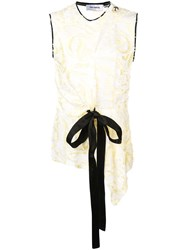 Yigal Azrouel Daffodil Feather Fil Coupe Top White