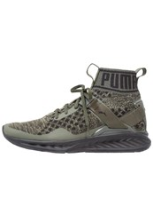 Puma Ignite Evoknit Sports Shoes Burnt Olive Forest Night Black