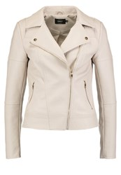 Only Onlcara Faux Leather Jacket Pumice Stone