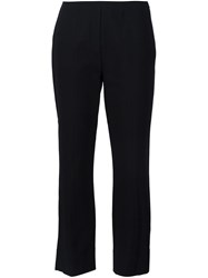 Vince Stitched Front Seam Straight Trousers Black